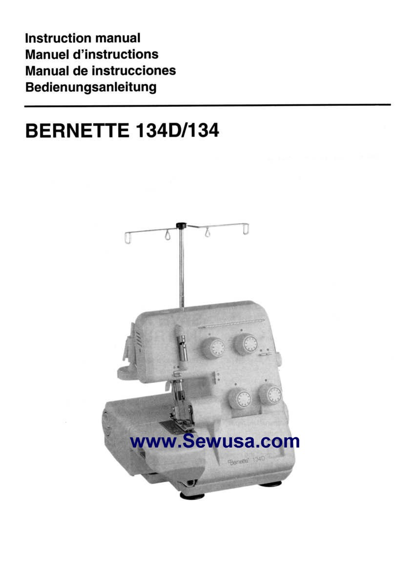 Bernina Bernette 334ds Manual