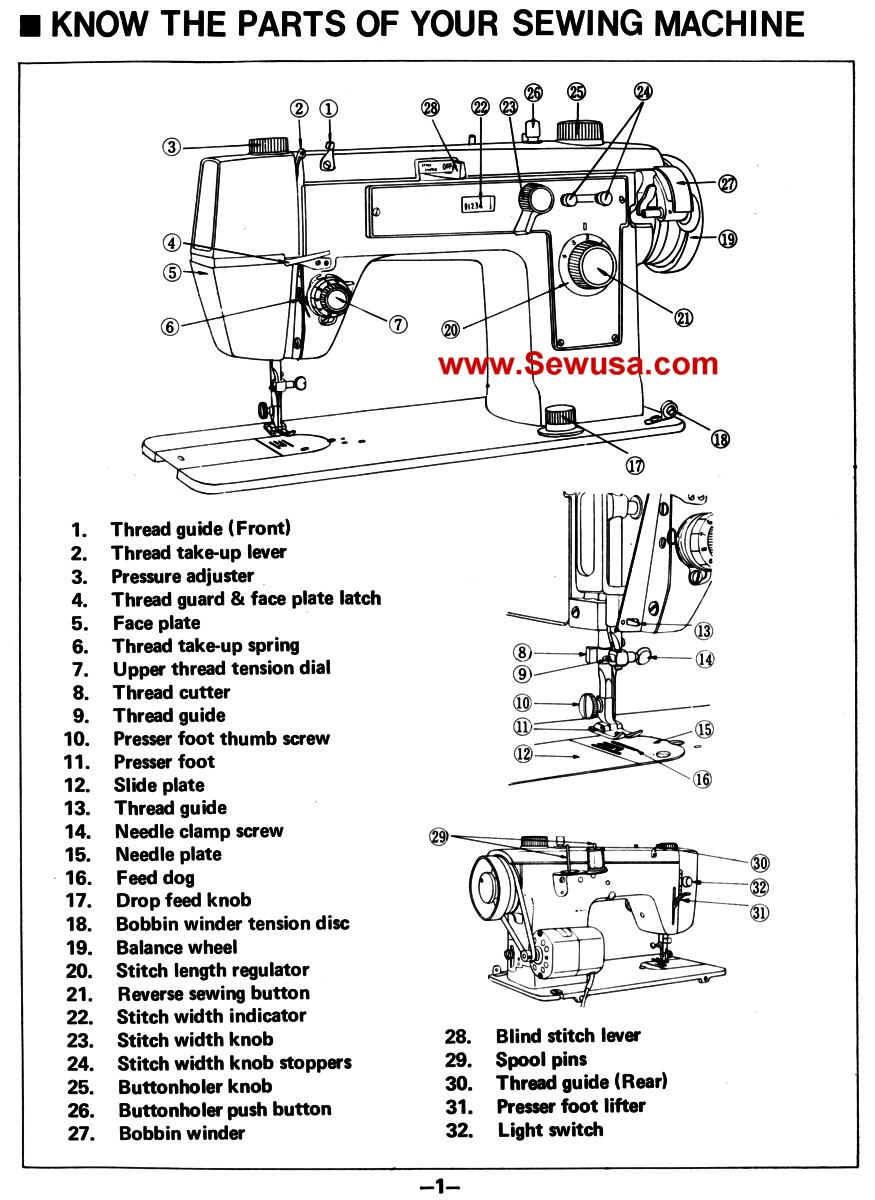 Singer Sewing Machine Parts Manual Manual Guide