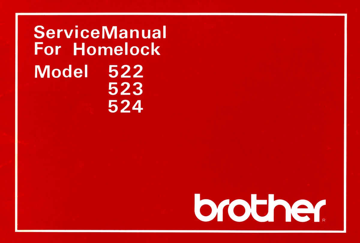 99 Brother Machine Sewing Necchi 4795 Threading Diagram Manual 523 Homelock 524 522 Service