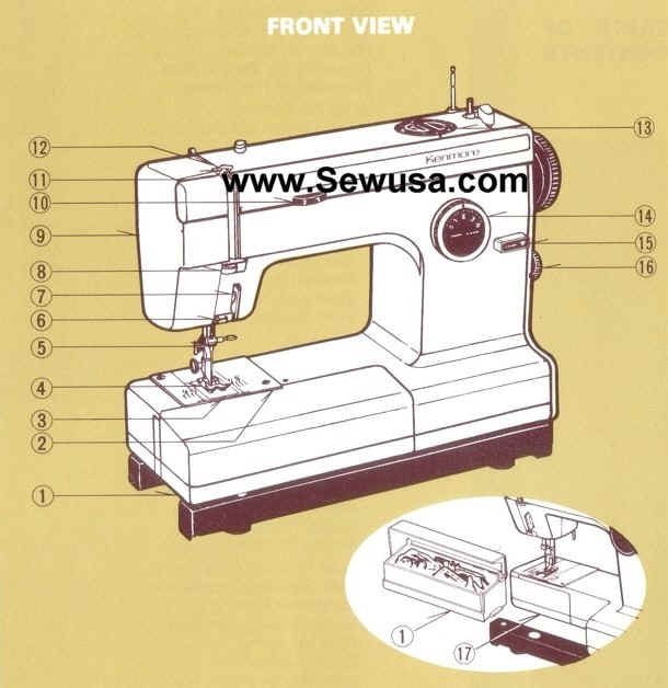 kenmore sewing machine replacement parts