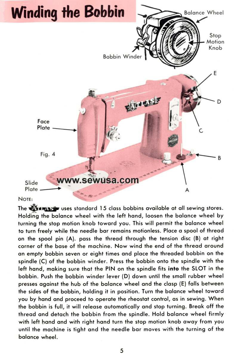 DOWNLOAD Atlas straight stitch sewing machine manual (smm1181pdf