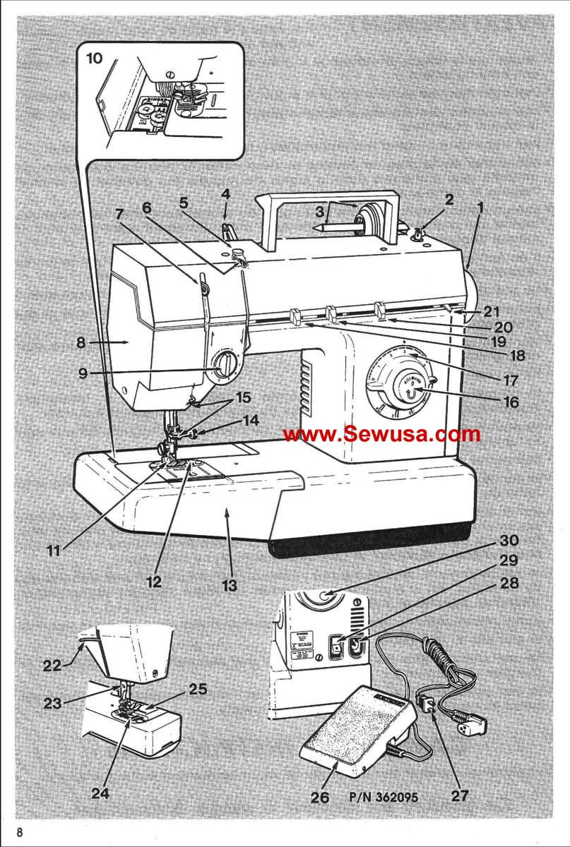 singer sewing machine 57820c